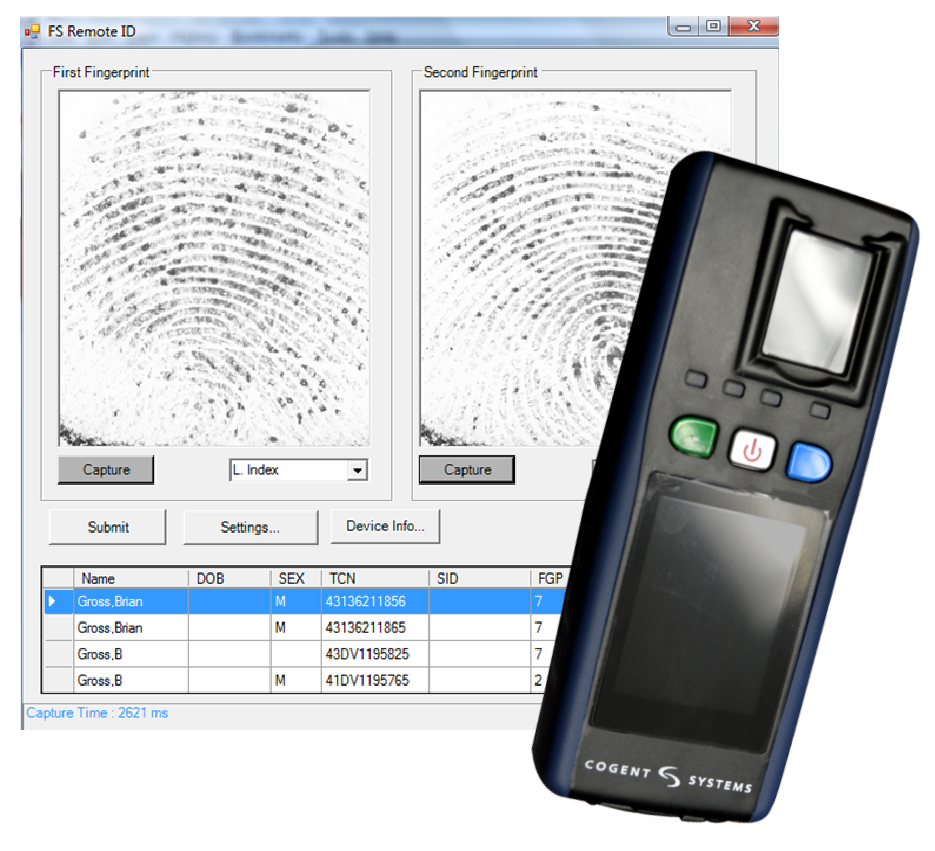Mobile ID unit and IDMS Software